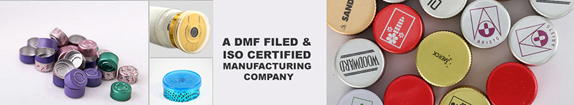 top ropp caps manufacturer from India, high quality bottle caps manufacturer in India, printed flip off seals